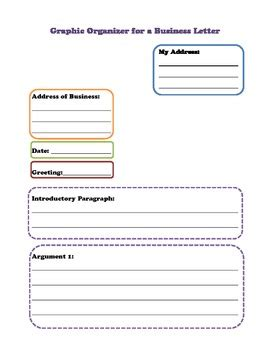 Business Letter Format Graphic Organizer business letter writing graphic organizer 28 images