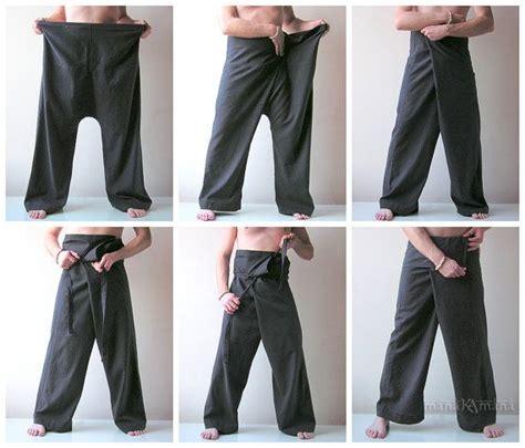 mens yoga pants pattern free thai fisherman pants coffee fishermen trousers wrap