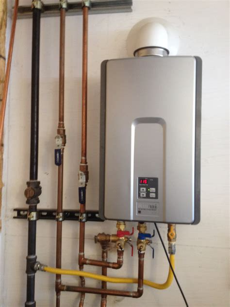 tankless water heater vent pipe installation venting a rheem tankless water heater for modern vent