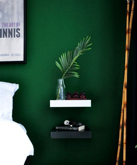 dark green bedroom bedroom reveal dramatic moody bedroom dark green walls simple nightstands home diy