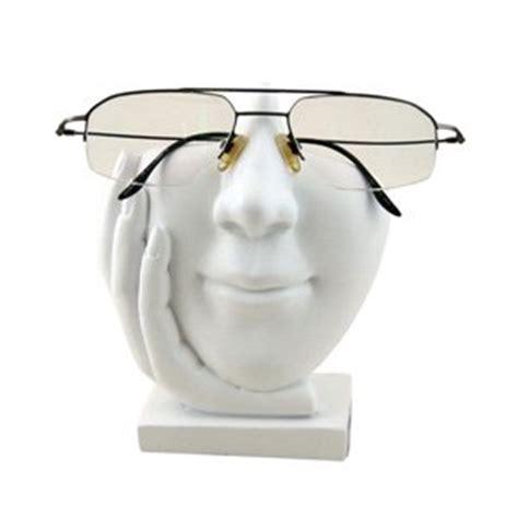 eyeglass holder white sculpted eyeglass or sunglass