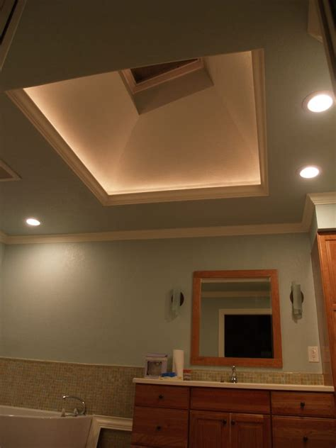 home lighting tips using skylight to bring a new illuminated skylight opening with led lights hidden behind