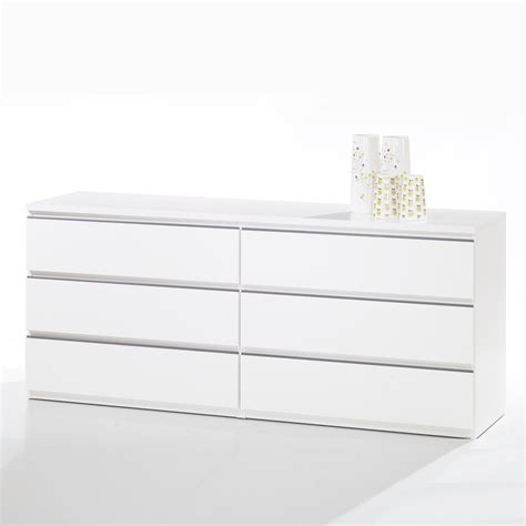 White 6 Drawer Dresser Shop Tvilum Tucson White 6 Drawer Dresser At Lowes