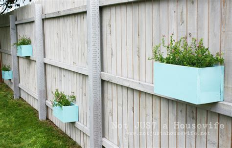 Planters On Fence by Fence Into Plant Shelf Omahdesigns Net