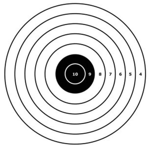 printable targets for handguns printable gun targets clipart best