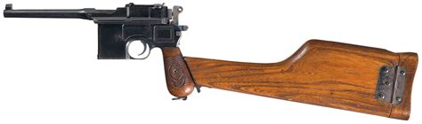 the broomhandle mauser weapon 1472816153 red nine mauser broomhandle pistol with stock pistol firearms auction lot 739