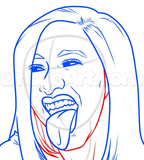 Cardi B Coloring Pages by Step 10 How To Draw Cardi B