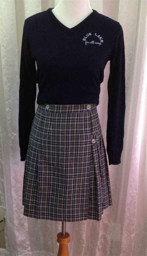catholic high school skirts vintage pleated skirt catholic school uniform by