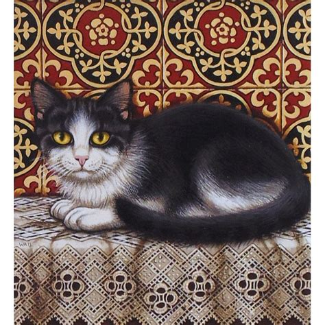 Cat Acrylic original acrylic painting by sue wall cat from