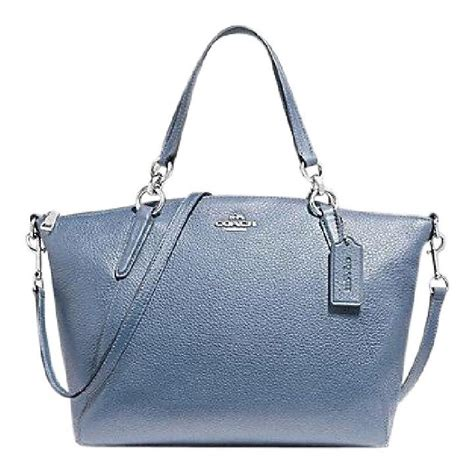 Tas Coach Kelsey Small Original 1 coach kelsey small in silver pool pebble leather satchel tradesy
