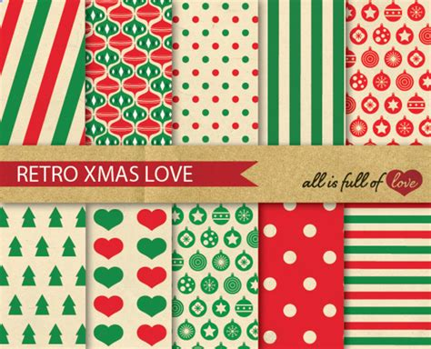 christmas patterns retro printable christmas cards with photo background
