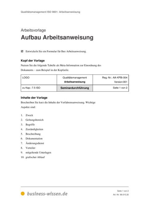 Word Vorlage Qualitätsmanagement Vorlage Arbeitsanweisung Read Book Vorlage Arbeitsanweisung Muster Anleitung Zur Read Book