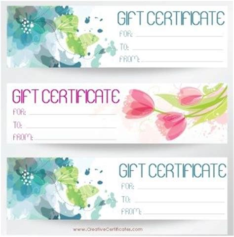 printable beauty vouchers free printable and editable gift certificate templates