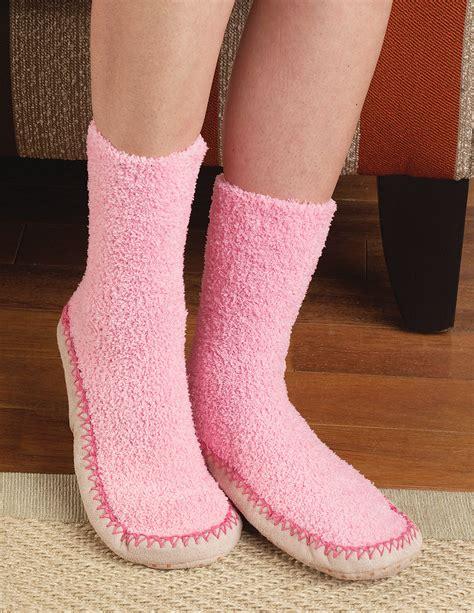 non skid slipper socks new comfortable non confining s moccasin slipper