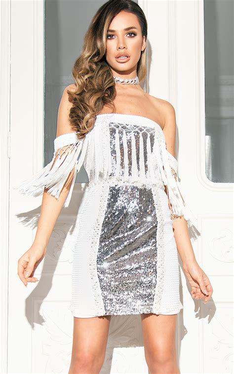 Mini Dress Plisket Premium Merahhitamgrey white premium strappy plunge tassel sequin mini dress dresses prettylittlething