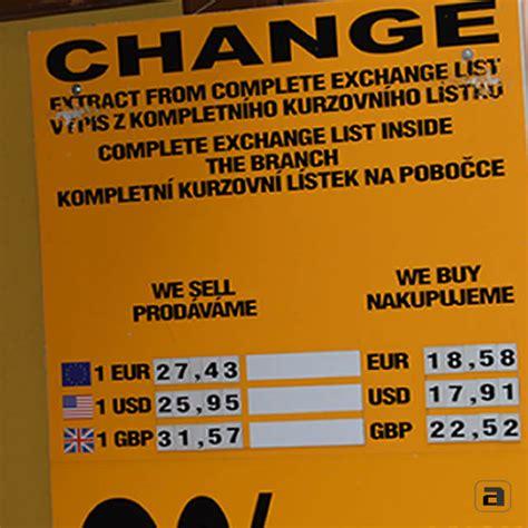 cambiare soldi in dove cambiare in corone a praga vivere in cechia