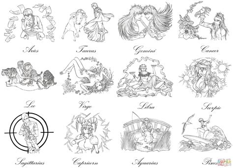 printable zodiac coloring pages zodiac sign coloring download zodiac sign coloring