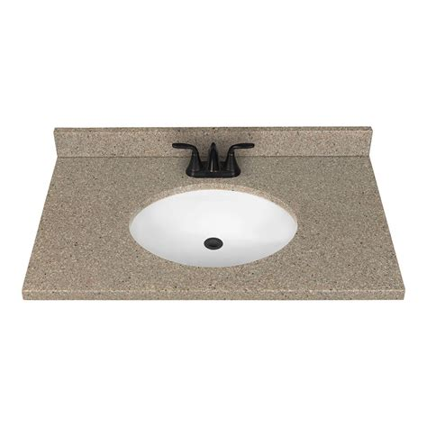 Solid Surface Vanity Top With Sink by Nutmeg Solid Surface Integral Single Sink Bathroom Vanity