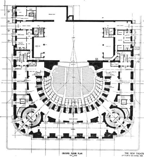philip amsterdam floor plan ground floor plan of the new theatre by carr 232 re hastings