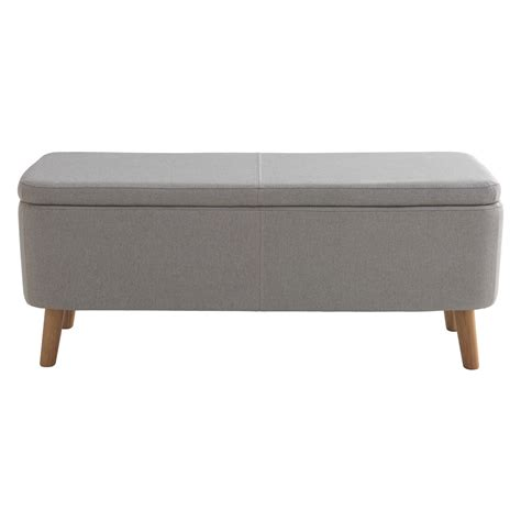 armchair theorizing belle view silver gray upholstered storage bench habitat