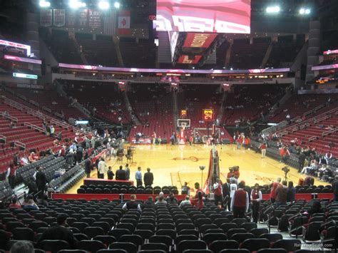 toyota center sections toyota center section 114 houston rockets