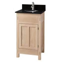 Home bathroom 19 quot unfinished mission hardwood vanity for
