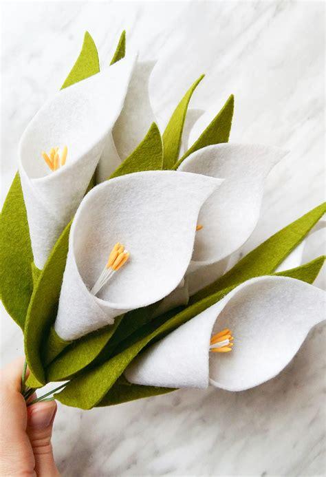 felt lily pattern diy felt flower tutorial calla lily wildflower felt