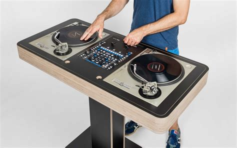 custom dj table dj custom turntable furniture free home design ideas images