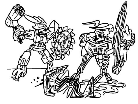 coloring page lego bionicle lego bionicle coloring pages to download and print for free