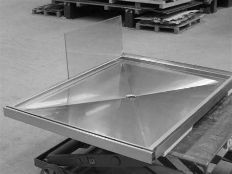 piatto doccia acciaio piatto doccia in acciaio inox su misura bagno arredo