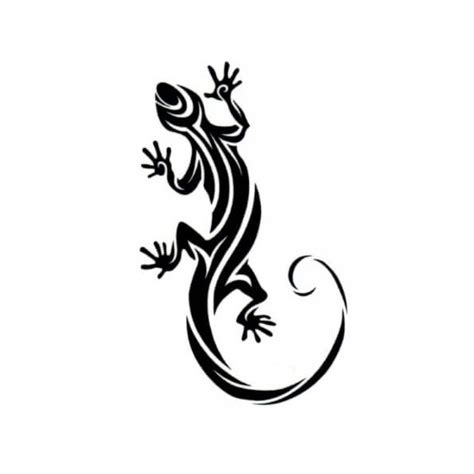 salamander gecko lizard temporary tattoo 9 cm