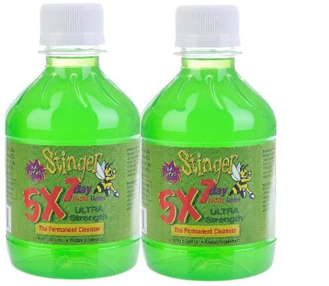 Stinger 5x 7 Day Detox by 2 8oz Stinger 5x 7 Day Permanent Detox 2 1 Week Bottles