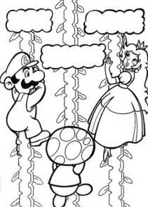 disegno maario salva la principessa da colorare disegni da colorare stampare gratis