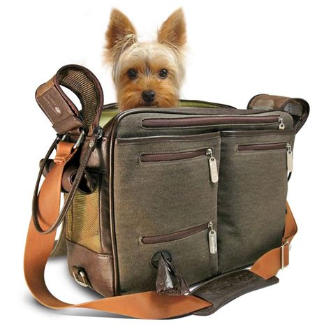 puppy carriers cambridge incognito takemealong carrier brown canvas