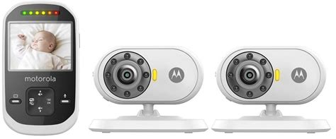 Multi Room Baby Monitor by Motorola Mbp25 Baby Monitor With 2 Cameras 2 4 Inch