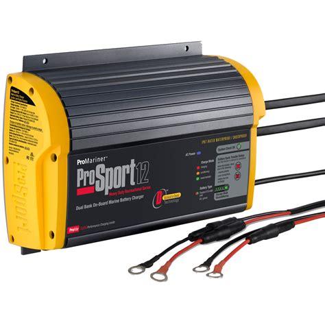 3 bank marine battery charger promariner prosport 12 3 12 2 bank battery