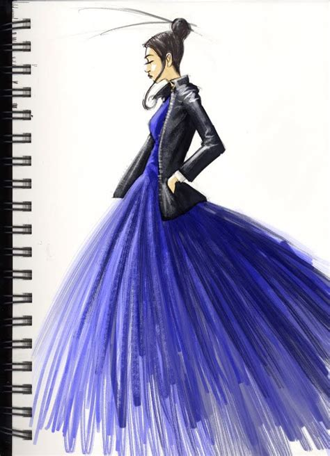 fashion design dress sketches fashion sketch in blue clothing sketches pinterest