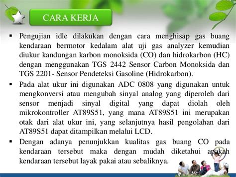 Alat Ukur Emisi Gas Buang uji emisi gas analyzer