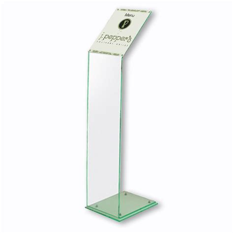 acrylic stand a4 acrylic menu holder free standing literature display stand
