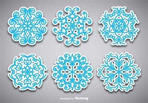 Stiker Vellum Flake Sticker Stiker Stiker Transparan snowflake stickers free vector stock graphics images