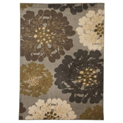 The Home Rugs Mohawk Home Flowers Area Rug Cocoa Praline 5x7 By Mohawk