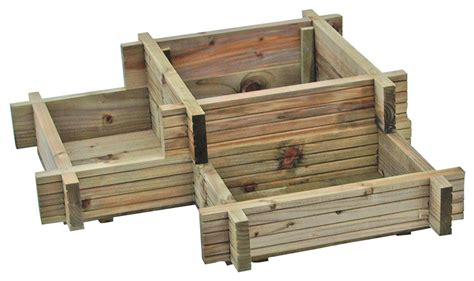 B And Q Garden Planters by Blooma Timber Corner Planter H 280mm W 960mm