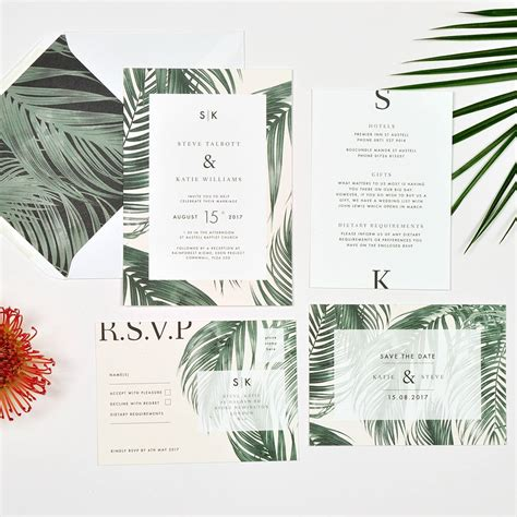 Tropical Wedding Invitations by Tropical Wedding Invitation By Papergrace