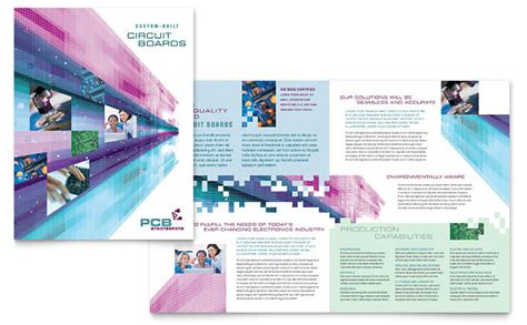 high tech manufacturing brochure template design