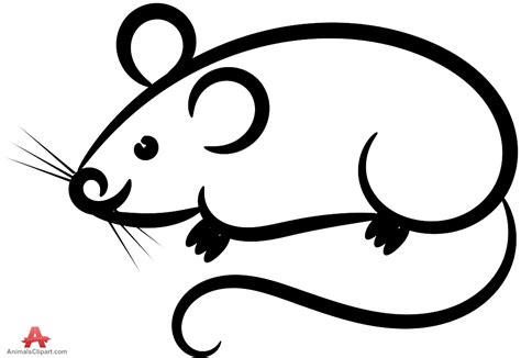 mouse clipart mouse clipart outline pencil and in color mouse clipart