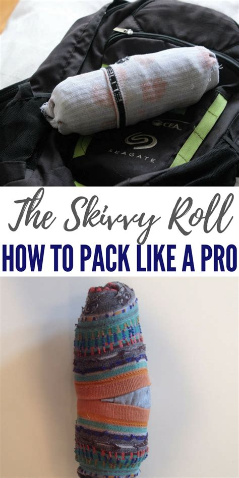 skivvy roll the skivvy roll how to pack like a pro