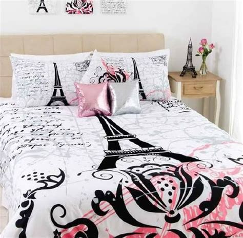 eiffel tower bedroom set stunning paris eiffel tower black flocking queen size