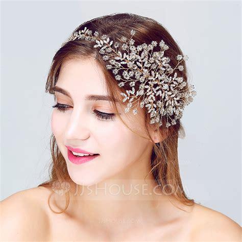 Aksesories Rambut Sanggul Wedding Hair Accesories shining rhinestone alloy headbands 042075706 jjshouse