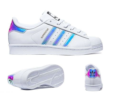 adidas superstar iridescent all sizes uk 3 6 boys womens limited shoes ebay