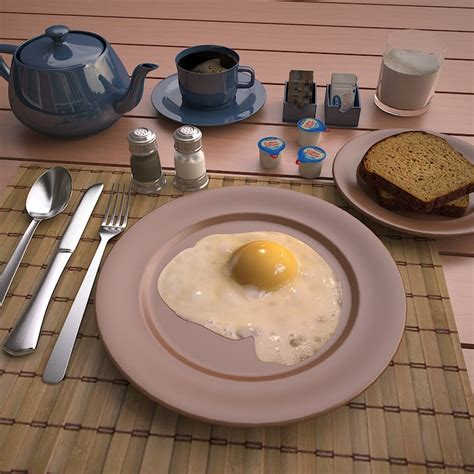 Max Creamer Sachets 3ds max fried egg
